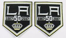 """LOT OF (2) HOCKEY L A KINGS 1967-2017 (50 YEAR) PATCH (4"""" X 3 1/4"""") ea. # 83"""