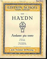 Haydn - Andante piu tosto ~ alte, übergroße Noten, Piano und Violine