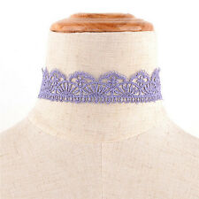 Retro Hollow Lace Choker Chain Flower Necklace Lady Collar Chocker Jewelry Newfo Light Pink