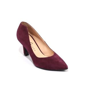 Gibellieri 70c Burgundy Suede Leather Pointy Classic Heel Pumps 40.5 / US 10.5