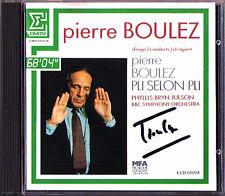 Pierre Boulez firmato Boulez pli selon pli 1983 Phyllis Bryn-Julson Erato CD