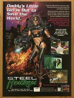 Steel Harbinger PS1 Playstation 1 1996 Vintage Print Ad/Poster Official Art Rare