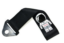 ASIMO RACE HIGH STRENGTH Black TOW TOWING STRAP HOOK FOR FRONT / REAR BUMPER JDM