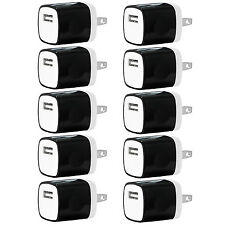 10x Pack 1A Universal USB Travel Wall Charger Power Adapter for iPhones Android