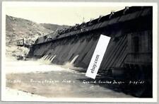 1940's Grand Coulee Dam Washington RPPC Early Downstream Facing Postcard NOS