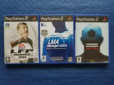 Sony PlayStation 2 PS2 Lot de 3 jeux Foot Manager complets