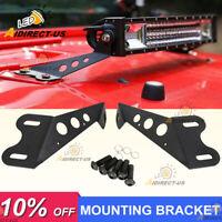 """Mounting Brackets For 20"""" - 22"""" LED Work Light Bar 2007-18 Jeep Wrangler JK Hood"""