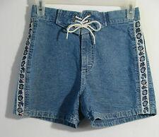 Girls LEE PIPES Retro Stone Jean Shorts Flower Design Sz 12R  Retail $24.99
