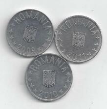 3 DIFFERENT 10 BANI COINS from ROMANIA (2009, 2010 & 2011)