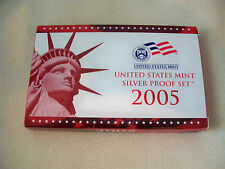 2005 U.S. MINT SILVER PROOF SET WITH BOX AND COA FROM ORIGINAL OWNER!