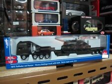 MAN TG-A Military heavy flat bed trailer with tank HO siku 1872 free ship
