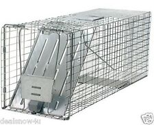 Live Animal Trap Catch Raccoon Groundhog Opossum Stray Cat Catch Release Cage