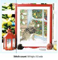 CHRISTMAS CAT   -    CROSS  STITCH   PATTERN     A8L8S
