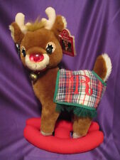 """1993 Rudolph The Red Nosed Reindeer Plush By Applause Large 14"""" Standing Toy"""