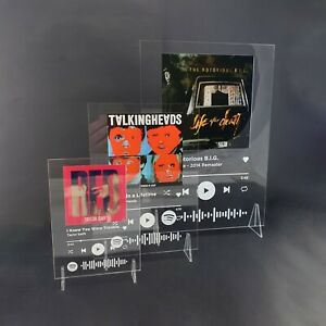 Spotify Music Plaque Favourite Song Personalised Music Printed Soundwave Gift