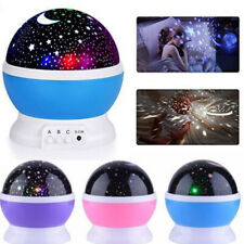 Rotating Projector Starry Night Lamp Star Sky Projection LED Baby Bedroom Decor