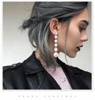 Jewelry Earrings Tassel Dangle Stud Elegant Big Drop Long Pearl Women's Crystal