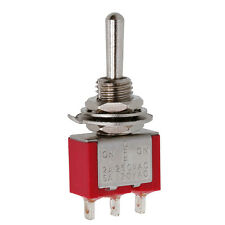 SPDT MTS-103 Red 3Pin ON-OFF-ON 3 Position Mini Toggle Switch AC250V 2A 120V 5A