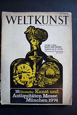 Weltkunst. Kunst und Antiquitaten Messe München 1974 -Paperback German Catalogue