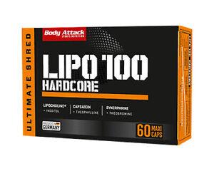 Body Attack LIPO 100 HARDCORE - 60 Kapseln  Gewichtskontrolle