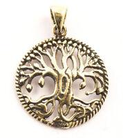 Runa Kleiner Keltischer Lebensbaum Anhänger Bronze Gothic Schmuck - NEU