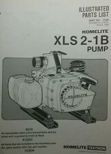 Homelite XL-Pump Parts Manual 8pg XLS 2-1B Trash Pond Water Fire Suppress