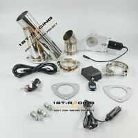 """3"""" inch Electric Exhaust Cutout Kit Remote Control Valve+Electronic Switch YPipe"""