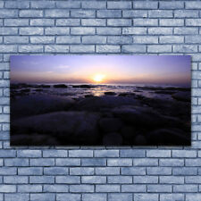 Acrylglasbilder Wandbilder aus Plexiglas® 140x70 Steine Meer Landschaft