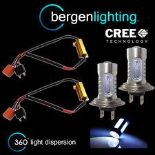 2x H7 BLANCA CREE LED FRONTAL Bombillas De Luz Larga Alto Voltaje Xenon mb501401