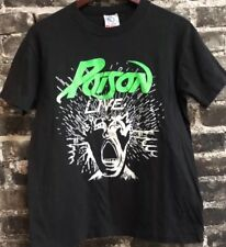 80s Vintage Poison Band Live Distressed Rock Tee T-Shirt Medium