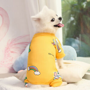 Dog Pajama XS S M Pet Sleepwear Clothes Small Puppy Cat Jumpsuit for Chihuahua