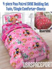 5pc Paw Patrol Skye Pink Twin/Single Comforter+Sheets Set Bed in a Bag +Toy Tote