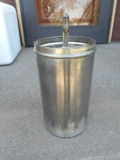 Vtg 3 qt  Ice Cream Freezer can & Dasher parts only -no lid no bucket no handle
