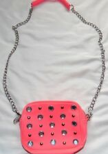 Neon Pink & Bling VICTORIA'S SECRET LOVE PINK Crossbody Messenger Purse Bag!