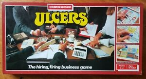 Vintage Ulcers Boardgame The Hiring, Firing Business Game Complete 1985 Retro
