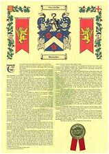 Coat of Arms & Surname History Scroll