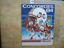 VINTAGE 1984 MONTREAL ( ALOUETTE) CONCOREs  CFL FOOTBALL PROMOTIONAL POSTER l478