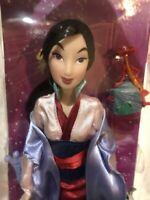Disney Store Classic Princess Mulan Barbie Doll w Mushu & Little Brother figures
