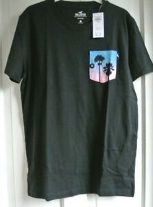 New Hollister mens 100% cotton Top Navy/Heather -Pink   XS