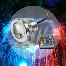 New 12V 10W 16 Colors RGB LED Spot Light Garden Underwater Lamp Remote Control