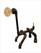 Vintage Industrial Style Retro Hand Made Pipe Desk Table Lamp Steampunk New UK