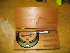 Brand NEW #436 3-4 Starret Micrometer         E-0543 in wooden Case
