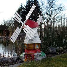 GARTENWINDMÜHLE LUISE 65 cm Garten Deko Mühle weiß Windmühlen Dekoration Windrad