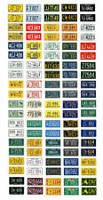 1/25 scale model car assorted USA 1950s license plates state tags 1:25