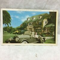 Vintage Postcard Syd Chaplin Residence Scene Hollywood California Unused