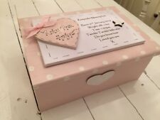 Personnalisé Bébé Garçon/fille en bois baptême/naissance/anniversaire souvenir/Memory Box