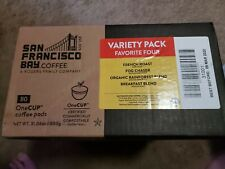 New listing Sf Bay Coffee Pods 80 Count OneCup Variety Pack K Cup 03/09/2022 Expiration