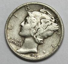 1941-d Mercury Head Dime. Error Double Date.  (Inv. B)