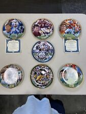 Lot Of 7 Bradford Exchange Nfl Quarterback Collectible Plates Brady Marino Elway