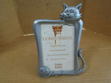 Cat Frame Meow 2x3 Inch Photo Frame Metal Brushed Silver Tone Stand Up Style New